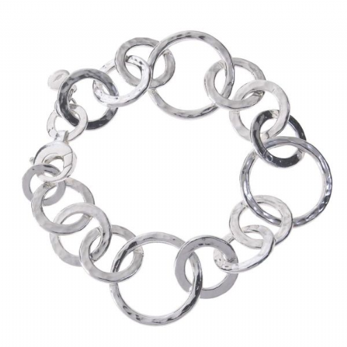 Hammered Circles Bracelet